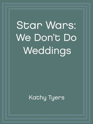 cover image of We Don't Do Weddings